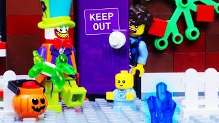 lego halloween unlucky lego baby sitter animation for kids