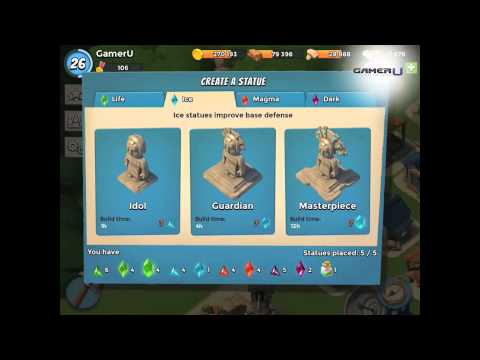 Boom Beach - Guide to the Sculptor and Statues