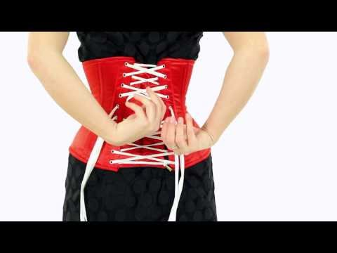 How to Waist Train: Episode 6: How to Lace Yourself Into A Bi-Directionally Laced Corset