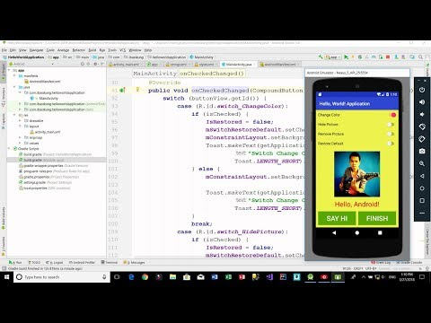 Android - SwitchCompat Example Part 2/2 (JAVA)