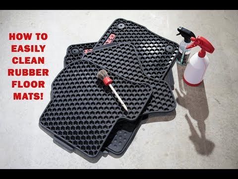 How To Easily Clean Rubber Floor Mats!