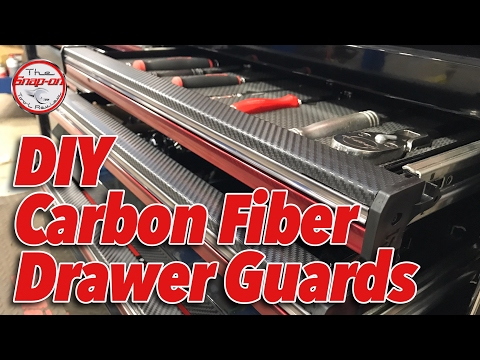 CHEAP DIY Snap-on Toolbox Drawer Edge Guards (Carbon Fiber Wrap)