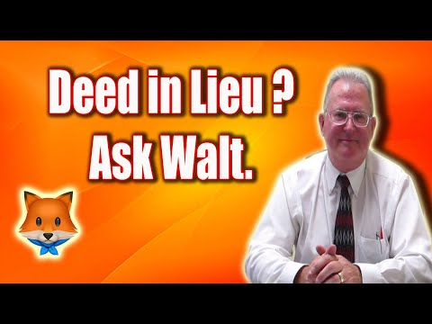 How Deed in Lieu of Foreclosure Works