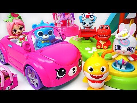 Let's take the Shopkins Convertible Car and go for s Picnic with Baby Shark, Petkins - PinkyPopTOY