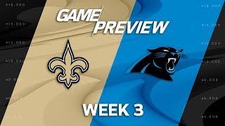 New Orleans Saints vs. Carolina Panthers | Week 3 Game Preview | NFL Playbook