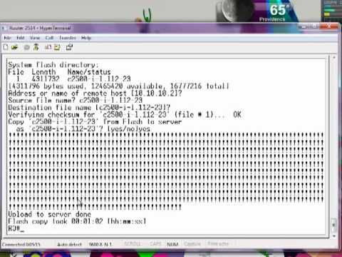 How to backup your Cisco IOS to a TFTP server.
