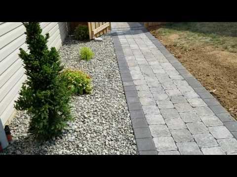 Cambridge Pavers walkway hardscape & landscape project walkthrough Hanover - Dreamscape Outdoors LLC