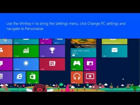 How to change Windows 8 Lock screen picture - Pureinfotech tutorial