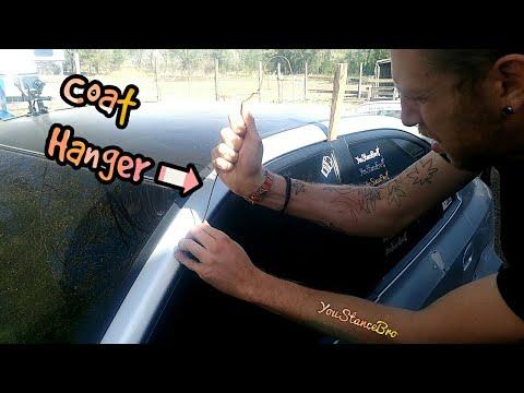 How to Use A COAT HANGER to UNLOCK your Car (04 Hyundai Elantra Locked Keys)