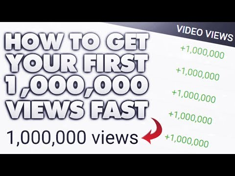 How To Get Your First Million Views On YouTube! (Watch Until The End)