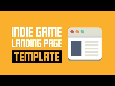 Indie Game Landing Page Template - Super Simple But Super Effective!