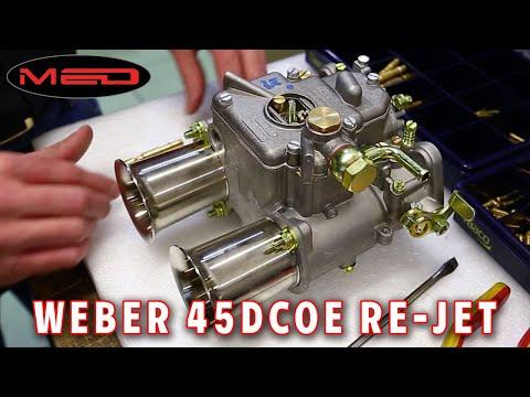 Weber 45DCOE re-jet