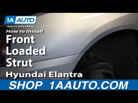 How To Install replace Front Loaded Strut 2001-06 Hyundai Elantra