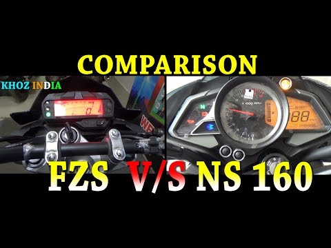 NEW YAMAHA FZS VS PULSAR NS 160 COMPARISON/FEATURES/PRICE/EXHAUST