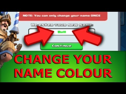 How To Change Your Name To COLOUR! | Tutorial | EASY! | Clash Royale