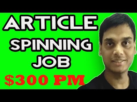 Article spinning job explained   Make money from article rewriter tool without software   Hindi