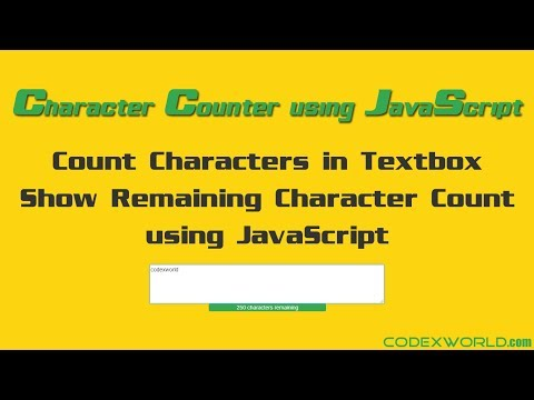 Live Character Counter using JavaScript