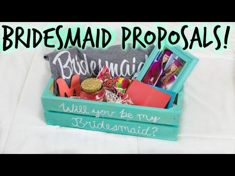 DIY BRIDESMAID PROPOSAL BOX & GIFTS! How I Asked My Bridal Party! || Wedding Series 👰💍