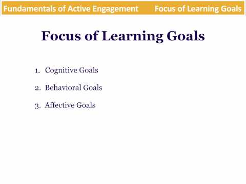 Fundamentals of Active Engagement - Training Objectives