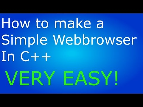 How to make a Simple Webbrowser in Visual C++ (Windows Forms Applications C++)