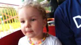 Abbys first roller coaster. The Stinger