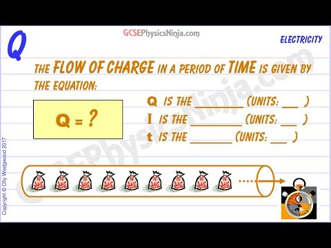 Flow of Charge in a Circuit - Formula - GCSE Physics