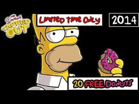 The Simpsons: Tapped Out - 20 Free Donuts! (Limited Time)(May 27)