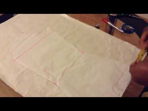 How to cut princess dart six pieces blouse (back part)