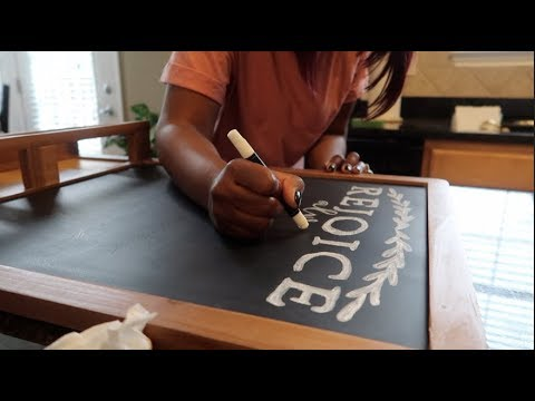 HOW TO WRITE ON A CHALKBOARD SIGN