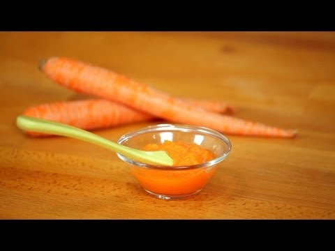 How to Make Carrot Puree for Babies | Baby Food