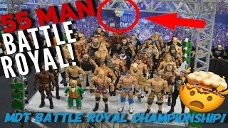 55 MAN WWE FIGURE BATTLE ROYAL! MIND-BLOWING RESULT!