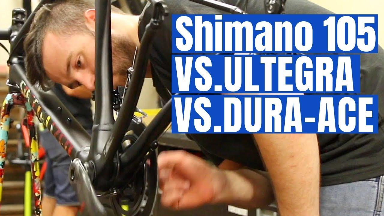 Shimano 105 VS. Ultegra VS. Dura-Ace (Best Groupset for YOU)