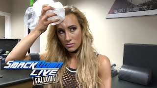 Carmella comes out of Nikki Bella