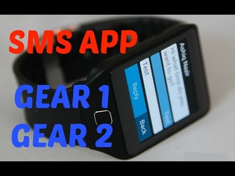 Samsung Gear 2 How to Send text messages Tutorial! Fleksy APP