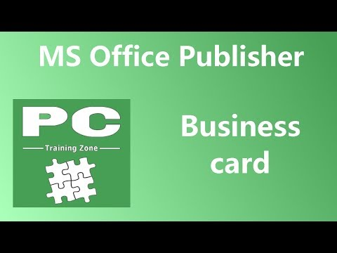 MS Office Publisher - Business Card