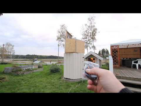 DIY Telescope observatory rotation motor and door remote control