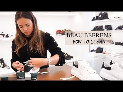 SHOECARE | How to clean: Alexander McQueen (ENG SUB) | Beau Beerens