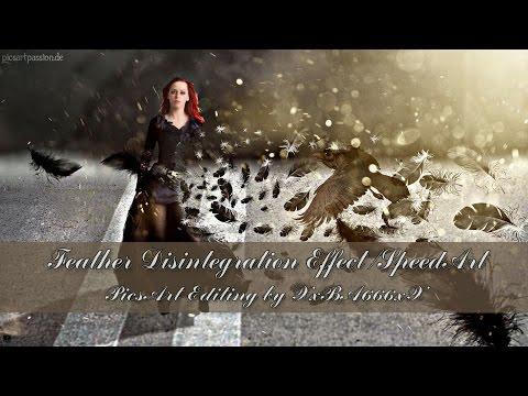 PicsArt Editing - Feather Disintegration - Speedart by XxBA666xX