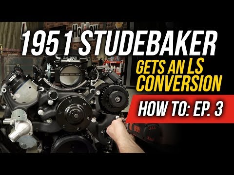 How To Install Holley's Mid Mount Accessory Drive Kit - EP. 3: 1951 Studebaker Truck LS Conversion