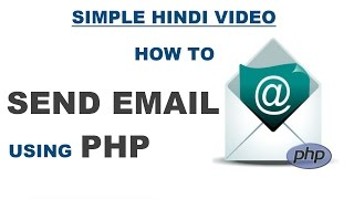 How to send email from HTML contact form using php mail function - Detailed Hindi Video Part-3
