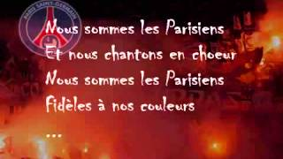 Chant supporter PSG