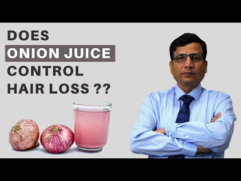 Does Onion Juice Control Hair Loss and Growth in Hindi - Any Scientific Reason