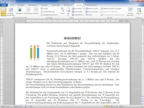 Microsoft Word 2010 Das horizontale und vertikale Lineal ein oder ausblenden