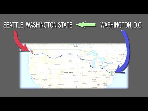 Washington D.C. to Washington State with Google Earth Street View