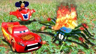 Disney Pixar Cars Lightning McQueen Mater Mack Hauler Saved by Mickey Mouse Spider Attack Toy Movie