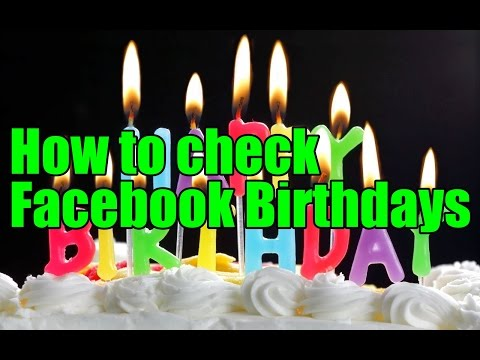 How to check Facebook Birthdays
