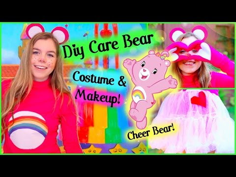 Easy DIY Care Bear Halloween Costume + Makeup!