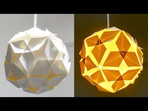 DIY lamp (diamond ball) - how to make a lampshade/lantern from puzzle units - EzyCraft