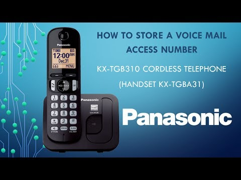 Panasonic KX-TGB310 Telephone -  How to Store a Voice Mail Access Number.
