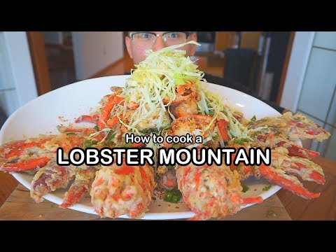 How to cook a LOBSTER MOUNTAIN - HONG KONG STYLE